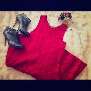 ZACPOSEN - Vivid Red Fit & Flare Dress